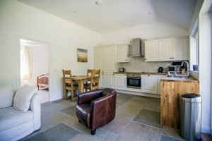 Almond Cottage Kitchen and Living Room Area