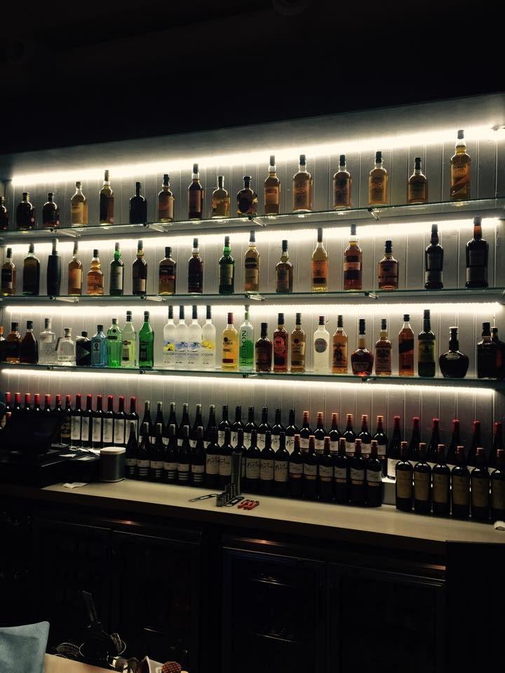 Bar area inside Three Lemons