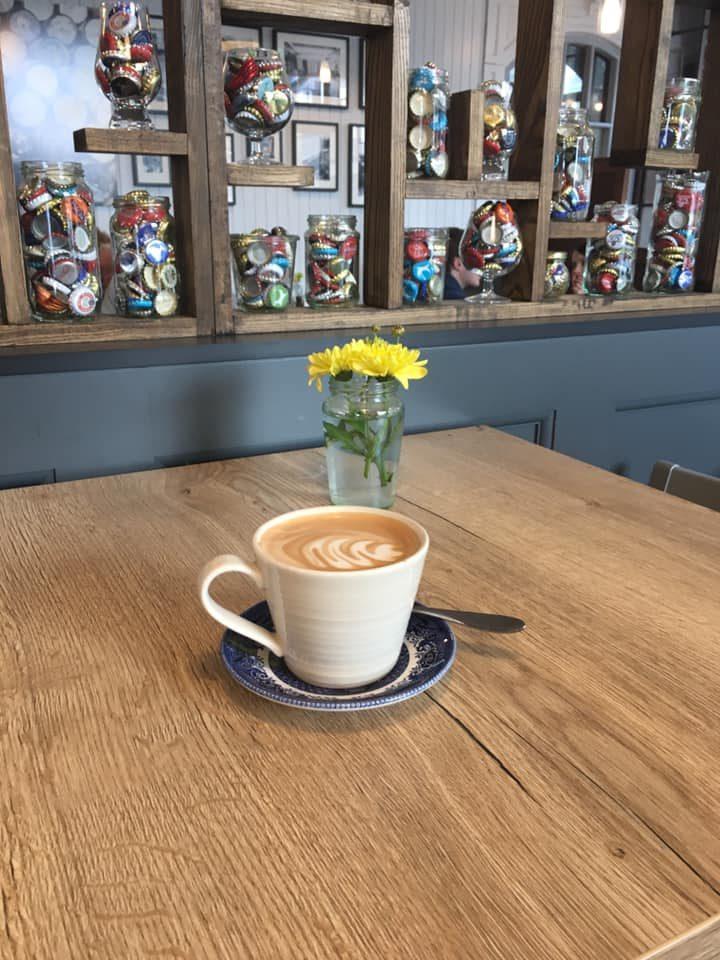 Coffee on table at Three Lemons
